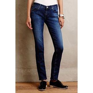 AG jeans Stevie slim straight medium blue 26